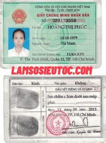 LÀM CMND GIẢ TẠI LAMSOSIEUTOC.COM
